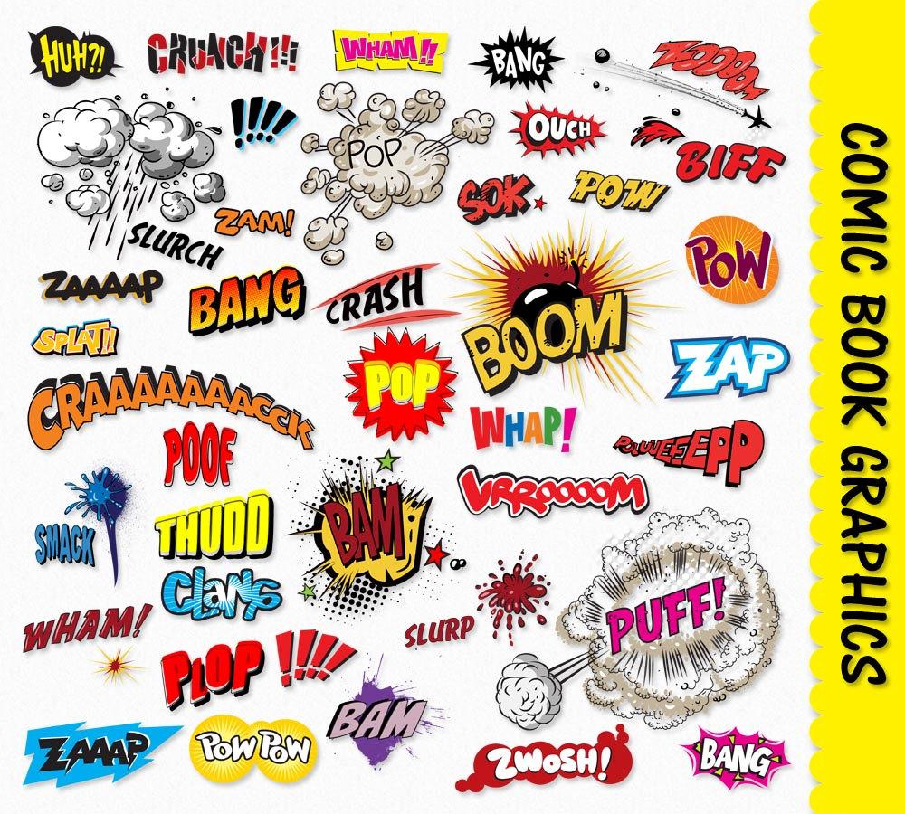 Comic clipart graphic novel Digital  Super Clipart Book