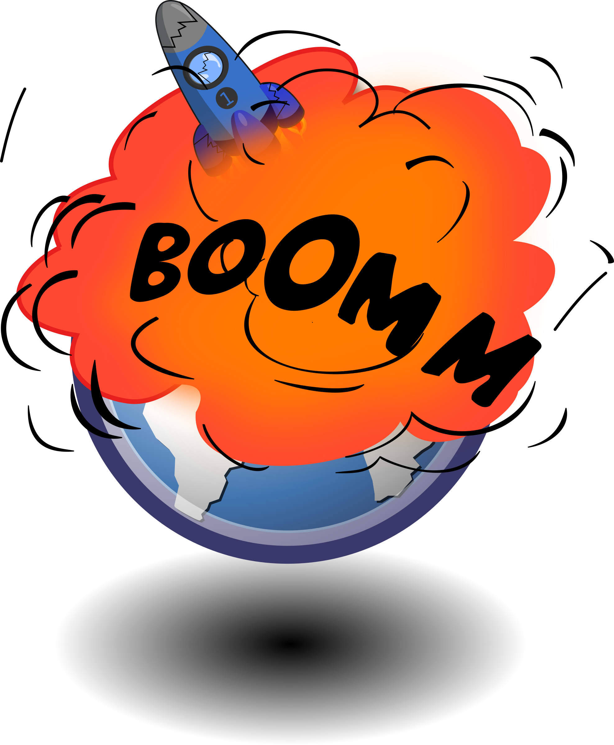 Explosions clipart earth Rocket Free Art Clip Clipart