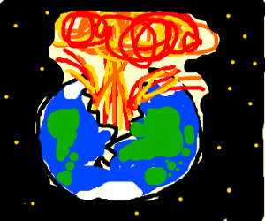Explosions clipart earth The cracks (drawing earth B