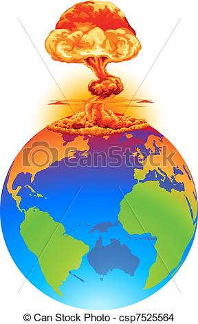Explosions clipart earth Disaster mushroom earth Explosion of