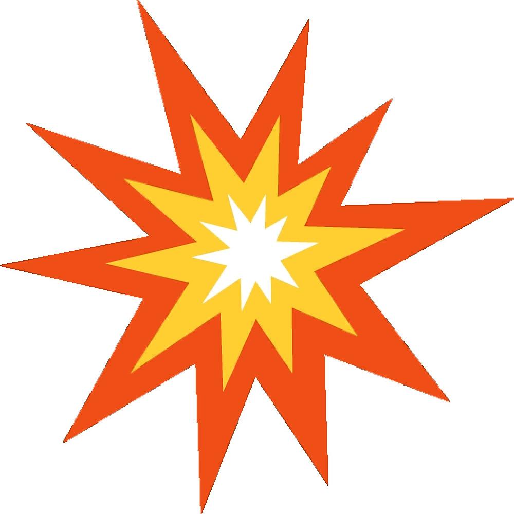 Explosions clipart emoji Redbubble Explosion ScrappyDesigns Emoji