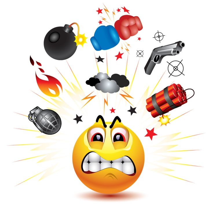 Explosions clipart emoji Anger to For best images