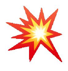 Explosions clipart emoji Emoji Pinterest emojit symbole collision