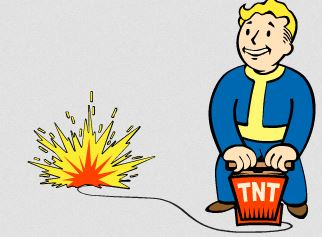 Explosions clipart fallout Such mines explosive Missile This