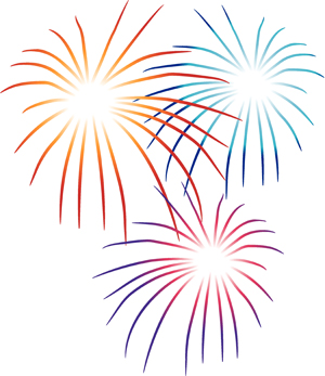 Light Blue clipart firework Party Fireworks July Party
