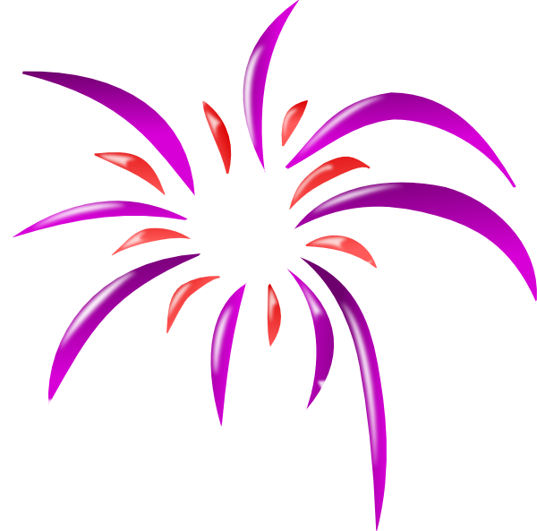 Fireworks clipart colored 2 Art vector  Colors