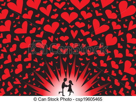 Explosions clipart heart A Explosion Art kissing csp19605465