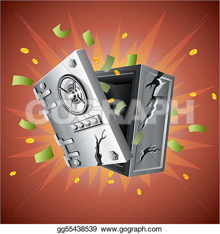 Money clipart explosion  Vector bank with Art