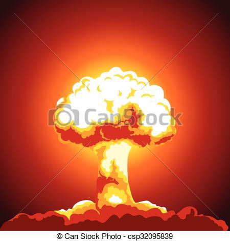 Explosions clipart mushroom cloud Illustration of cloud  explosion