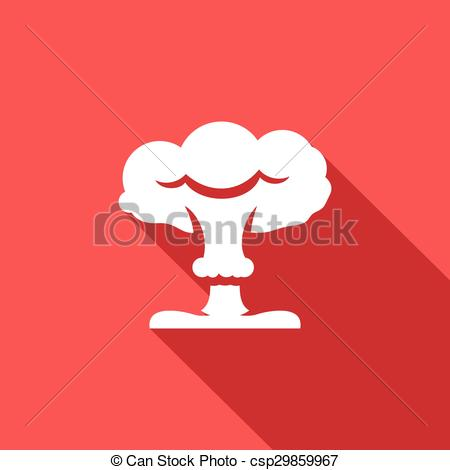 Explosions clipart mushroom cloud Nuclear Vector Vector icon Mushroom