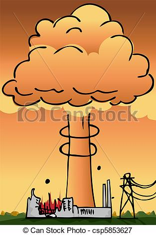 Explosions clipart nuclear power plant Power Plant Plant Vectors csp5853627