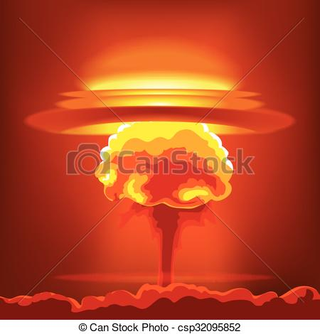 Explosions clipart nuke Orange  Vector explosion and