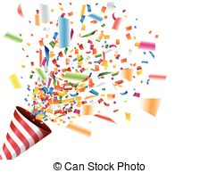 Explosions clipart party EPS with Party popper vector