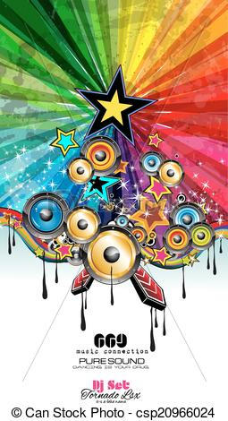 Explosions clipart party Event Flyer Music of Music