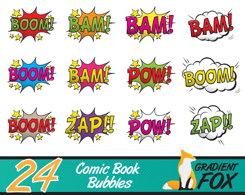 Explosions clipart party Bubble  superhero speech printables