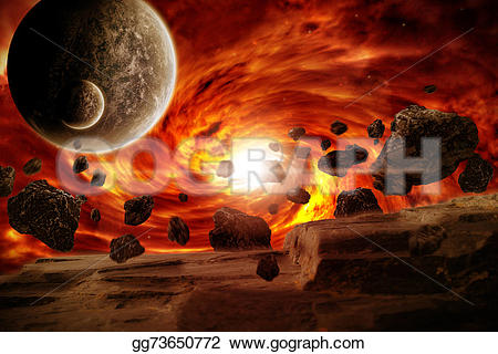Explosions clipart planet Apocalypse Stock Planet explosion Illustration