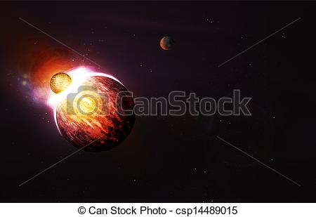 Explosions clipart planet Colliding Planet Planets and Clipart