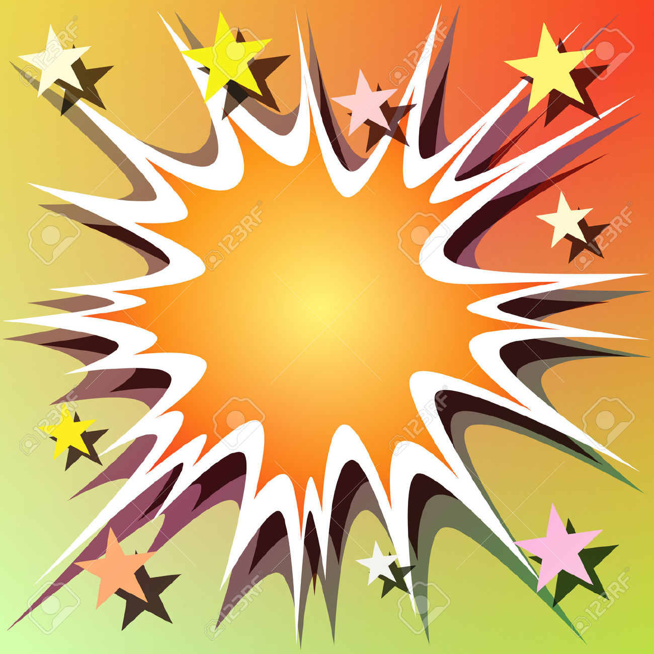 Explosions clipart star explosion Vector Book And Comic Comic