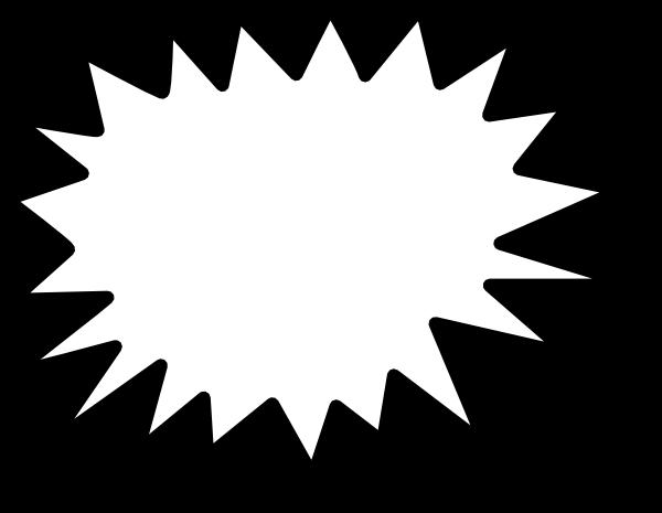Black clipart starburst Download Art online this image