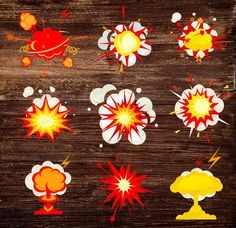 Explosions clipart war Clipart retro Bubbles  labels