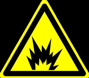 Explosions clipart yellow Clker Hazard com Sign: Art