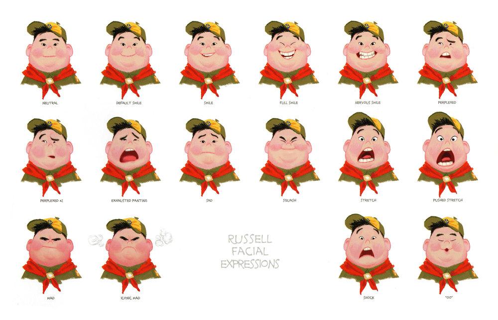 Expression clipart Russellfacialexpression jpg  Char_ref Pinterest