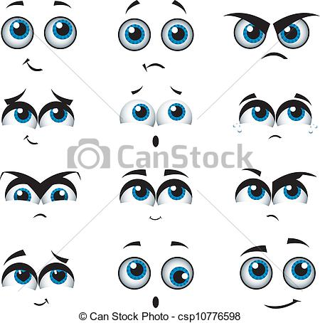 Expression clipart Faces vector with expressions Cartoon