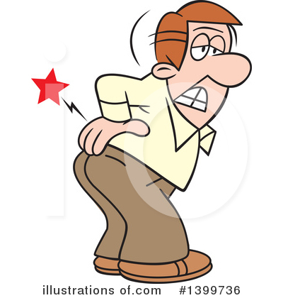 Rear clipart backache Pain (RF) Johnny Clipart Illustration