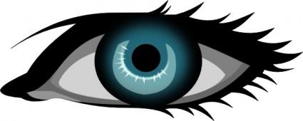 Blue Eyes clipart one eye Library Line Line Art Eye