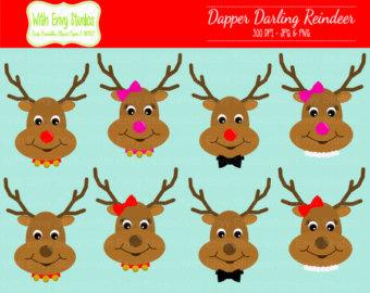 Reindeer clipart eye #1