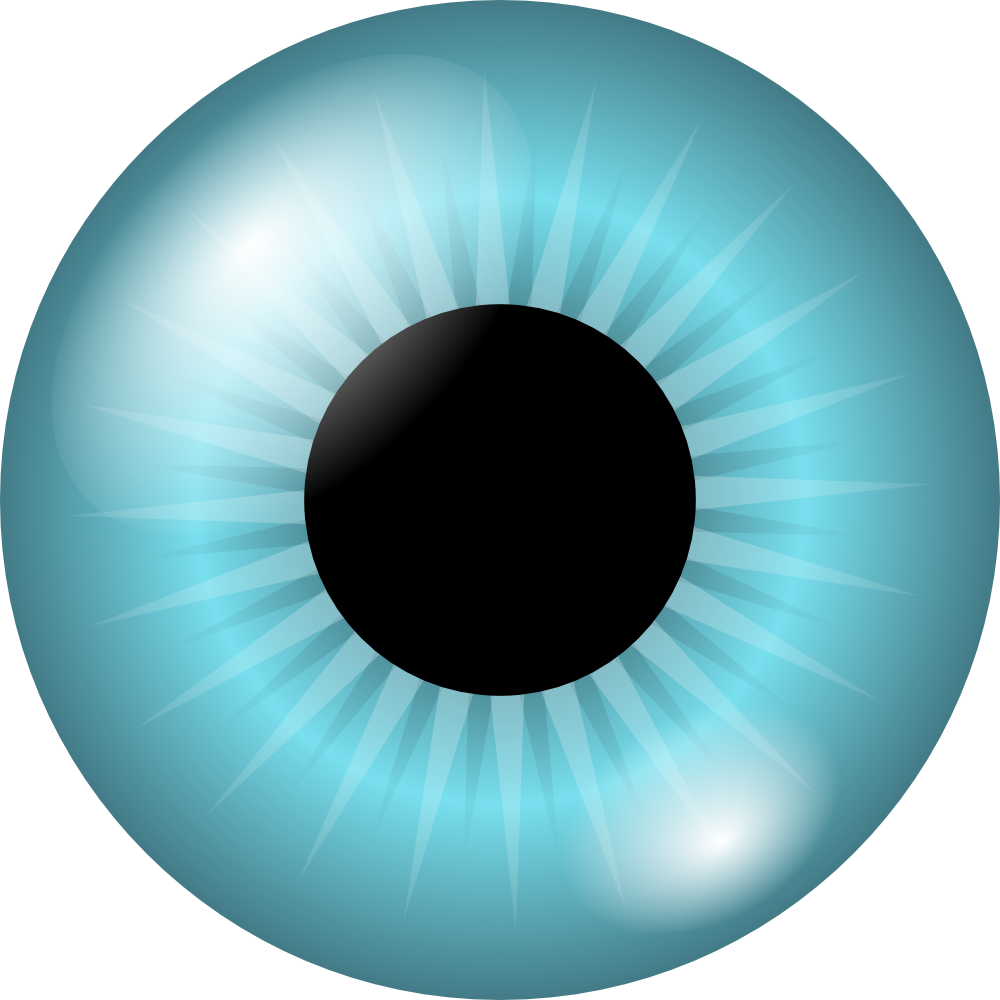 Blue Eyes clipart round eye Clip Eyes Round pupil (56+)