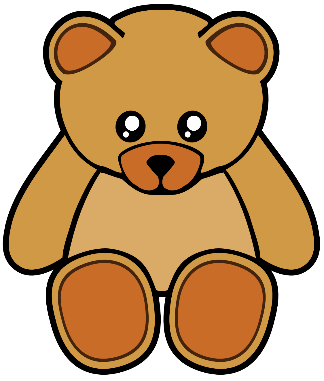 Teddy clipart grizzly bear Clker Brown Free Teddy Image