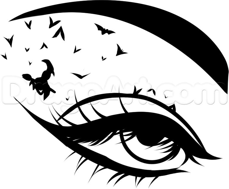 Witch clipart eye Draw Step witch How Eye