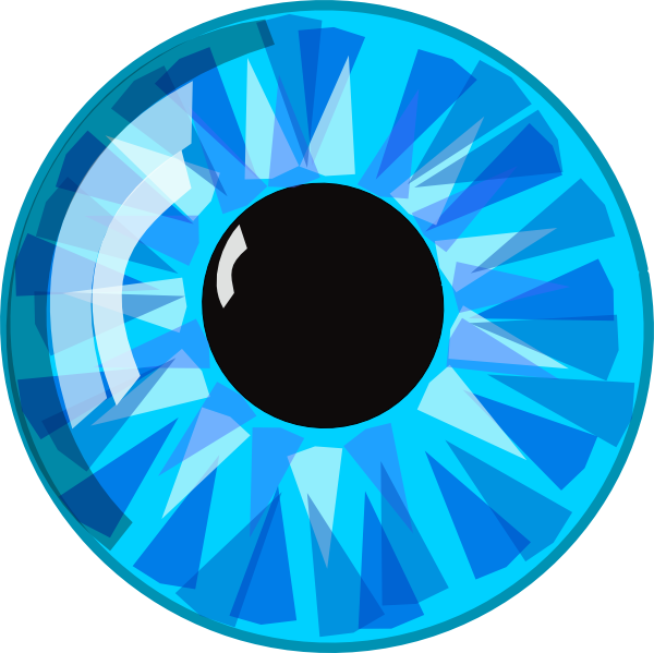 Eyeball clipart anime eye Eyeball blue clipart Clipartix eyes