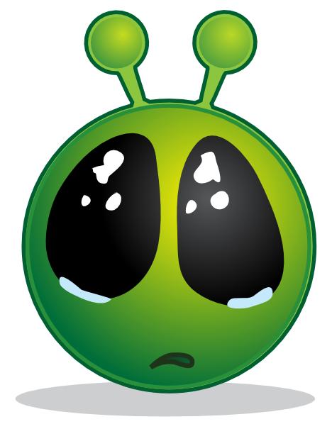 Alien clipart sad Vector by Big eye Zone