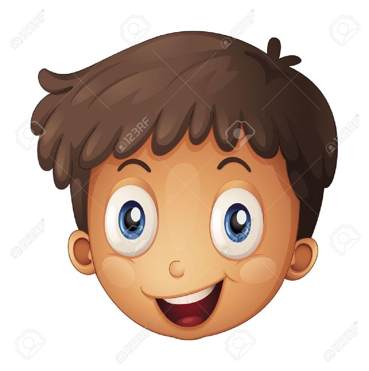 Eyeball clipart boy Royalty Illustration On A brown