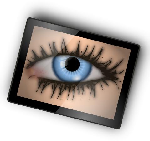 Blue Eyes clipart shocked eye Clipart Public Free Creepy Art