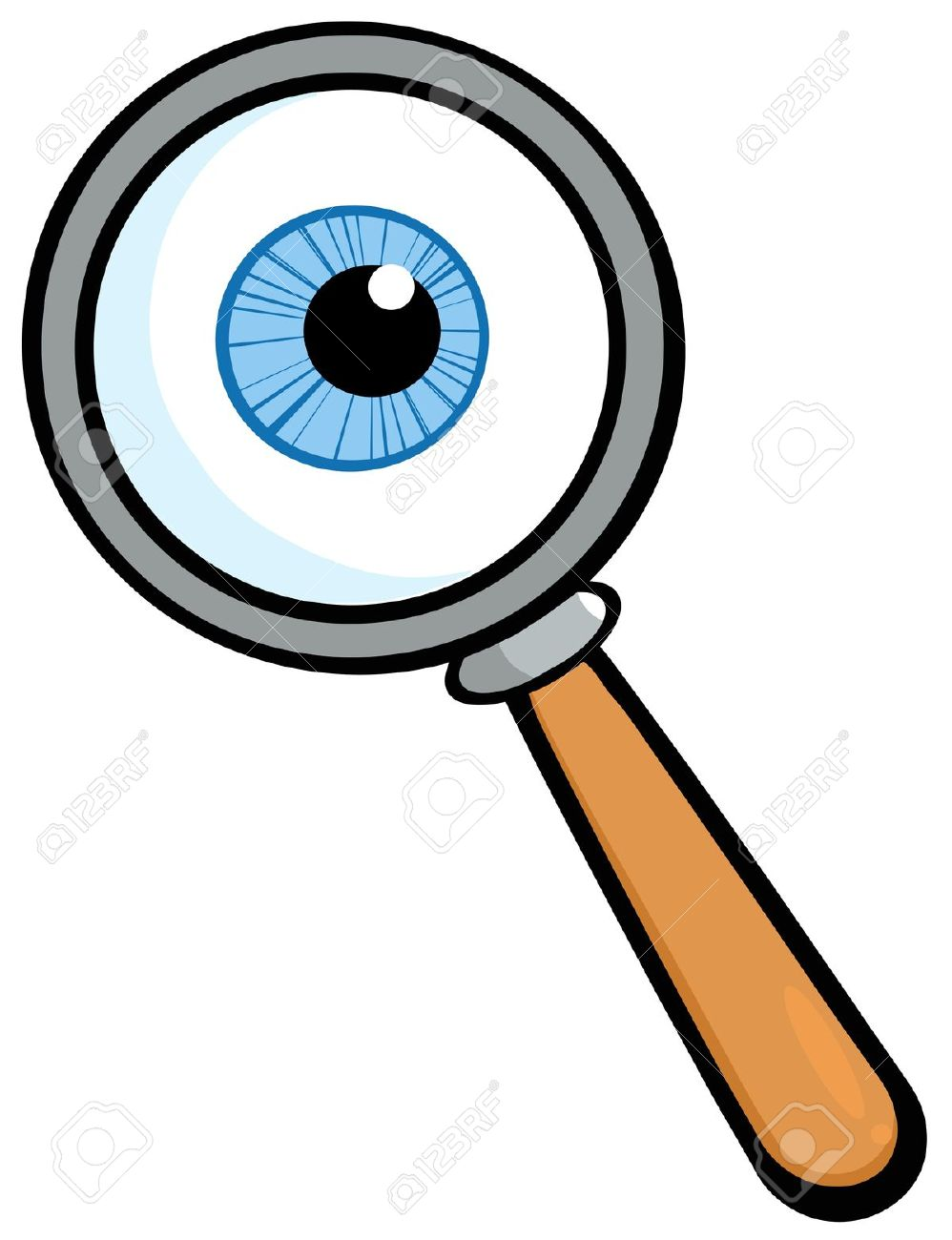 Eyeball clipart detective Vector 1070 Magnifying  Clipart