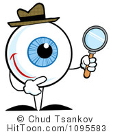 Eyeball clipart detective Royalty Magnifying Clipart Detective Clipart