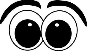Red Eyes clipart googly eye Eyes Panda Eyes left looking