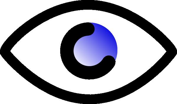 Eyeball clipart graphic As: Clker vector clip com