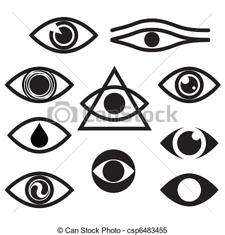 Eyeball clipart graphic Vector eyes Search  csp6483455