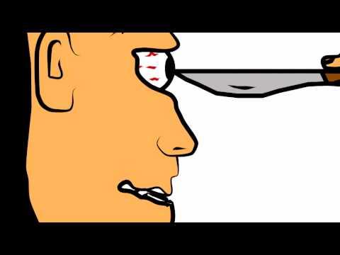 Eyeball clipart gut Gets stabbed stabbed animation Guy