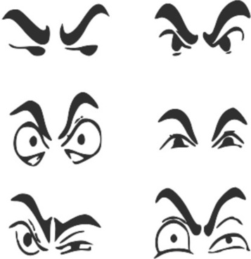 Eyeball clipart high eye For use human vector) Eyeball