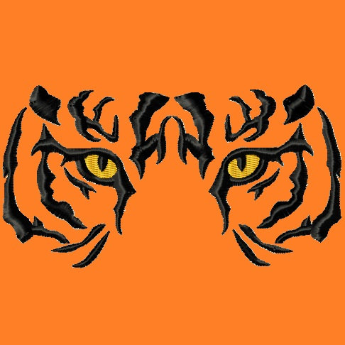 Bengal clipart tiger eyes Animals LunaEmbroidery Clip by Designs
