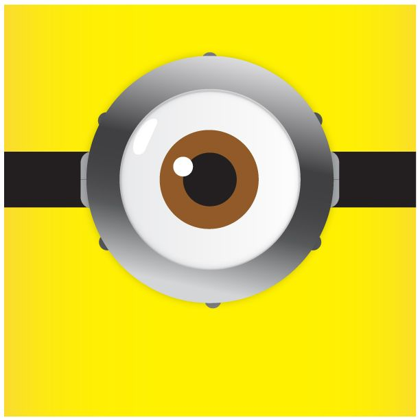 Eyeball clipart minion Template and Template Minions Pinterest