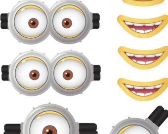 Eyeball clipart minion Etsy Movie Minion Favor Mouths