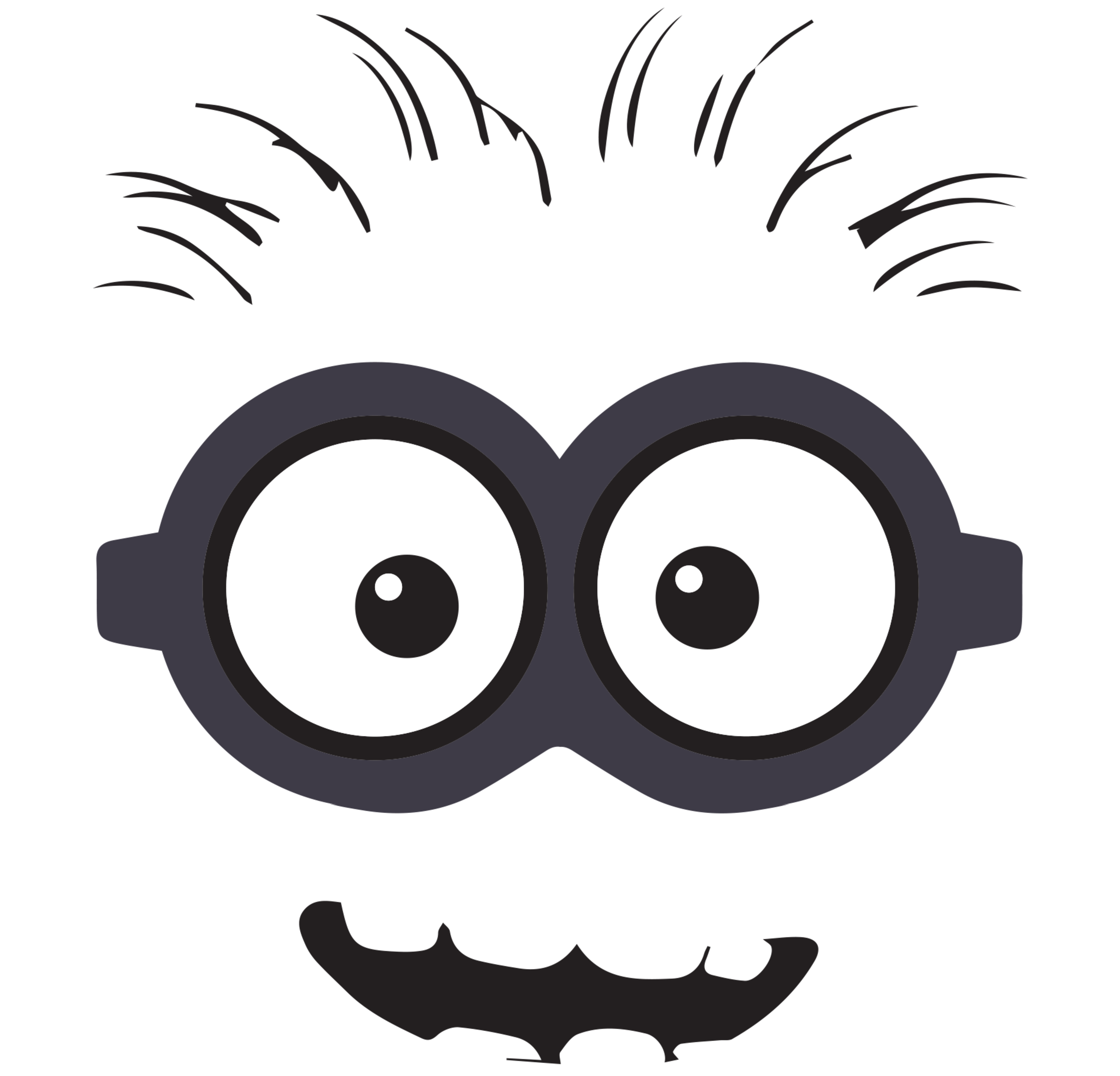 Despicable Me clipart printable Black clipart Eyes and