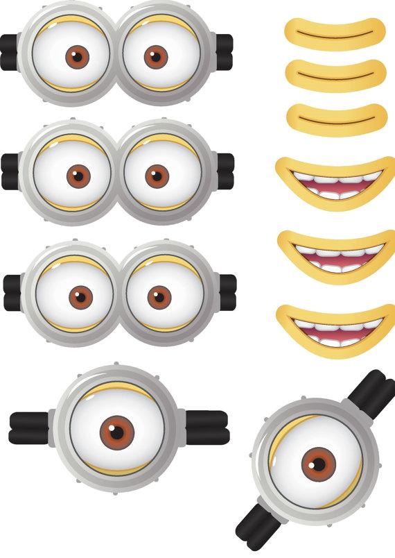 Eyeball clipart minion LittleDebsDownloads Design Movie Digital Favor