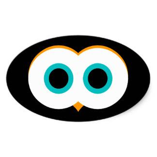 Eyeball clipart owl eyes Eyes Oval Stickers Zazzle Eyes
